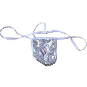 TOOGOO(R) NEW Men's Sexy Open G-string T-back Pouch Thong Brief Silver