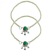 COLETTE Set of Two Beaded Anklets