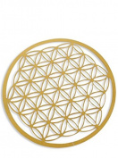 Flower of Life Coaster Photo Paper, gold 10 cm