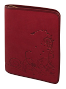 Buchhülle Gotteslob / large print red - embossed motif tendril 21 x 15.5 x 3 cm