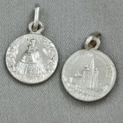 Real silver pendant Madonna Mariazell, 925 silver, pendants for chain back Church in jars 1 cm