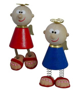 2er Set motorists Guardian Angel Charly standing or hanging blue and red 5.5 cm