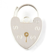 Sterling Silver 15mm Bracelet Heart Padlock Fastener - Perfect For Bracelets And Repairs