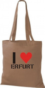 ERFURT ShirtInStyle Bag I LOVE Your City Various Colours