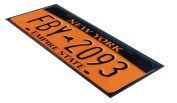 New York licence Plate design Bar Runner great gift idea home bar shop cocktail party advertising tool bar mat