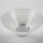 """Grooved glass bowl SELMA de Luxe, clear, 3.2"""" / 8 cm , Ø 7.5"""" / 19 cm - snack bowl / decorative bowl - INNA Glas"""