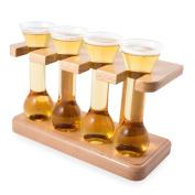 CKB Ltd® Mini Yard Taster Shot Glasses - Ideal For Shots, Beer Tasting And Liqueurs, Craft Beer Shots - Gift For The Beer Connoisseur - Each Mini Yard Glass Holds 50ml
