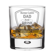 Whisky Glass - Keep Calm Dad and Drink Whisky - Gift Boxed