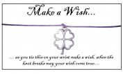 Juicy Jewellery Silver Four Leaf Lucky Clover Good Luck Charm Wish Bracelet On Gift Card