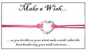 Juicy Jewellery Silver Love Heart Charm Wish Bracelet On Gift Card Red