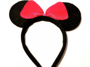 MOUSE EARS WITH BOW ANGELINA BALLERINA FANCY DRESS HEN NIGHTS FUN RUNS PARTYS