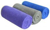Multi-purpose Microfiber Fast Drying Travel Gym Towels 3-pack 33cm X 70cm
