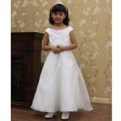 Kids Dream White Applique First Communion Girls Dress 2T-16