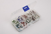 Leegoal 500pcs 10 Colour Mix Lot Crystal Rondelle Spacer Bead Box Set Value Pack 8mm