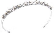 Shop Ginger Wedding White Pearl Flower Hair Band Wedding Bridal Tiara Crystal Crown Prom Party