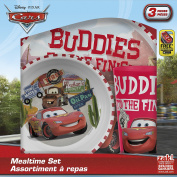 Zak! Designs Mealtime Set with Plate, Bowl and Tumbler featuring Disney's Cars Graphics, Break-resistant and BPA-free plastic, 3 Piece Set