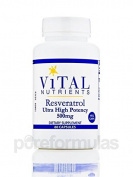 Vital Nutrients - Resveratrol 500mg 60 caps [Health and Beauty]