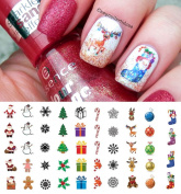 Christmas Holiday Assortment Water Slide Nail Art Decals - Salon Quality 14cm X 7.6cm Sheet!