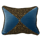 HiEnd Accents San Angelo Leopard Pillow, Teal
