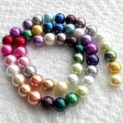 Beading Station Strands of 50 Pcs Stylish Mix Satin Glass Pearl Beads 8mm