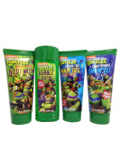 Teenage Mutant Ninja Turtles Bath Set Bundle of 4 Items