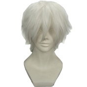RightOn Tokyo Ghoul Tokyo Guru Kaneki Ken Anime Cosplay Costume Party Wig with Free Wig Cap and Comb