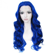 Lace Wig Long 60cm Wave Synthetic Lace Front Wig High Density Sappire
