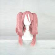 Chuunibyou demo Koi ga Shitai! Satone Shichimiya Pink Cosplay Costume Wig + 2 ponytails