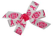 WD2U Girls' Tackle Breast Cancer Pink October Football Hair Bow French Clip