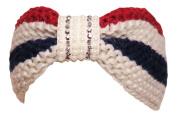 Bling/Pearl Red/Beige/Navy Wide Headwrap Headband Patriotic