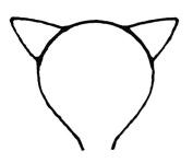 ASX Design Cute Sexy Womens Attractive Vivid Colour Cat Ear HeadBand Hair Band Black