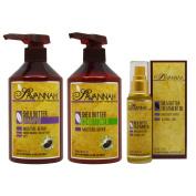 """Savannah Shea Butter Shampoo & Conditioner 500ml & Treatment Oil 50ml """"Set"""""""
