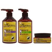 "Savannah Shea Butter Shampoo & Conditioner 500ml & Masque 250ml ""Set"""