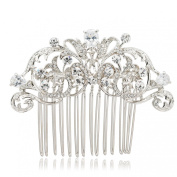 Vintage Style CZ Rhinestone Hair Comb Pins Bridal Wedding Hair Accessories Jewellery 2253R