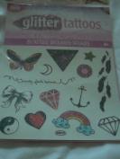 Savvi Glitter Tattoos - 29 Tattoos - Butterfly, Star, Feathers, Heart, Rainbow, Lightning Bolt and More