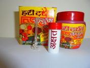 2 packs of 40g Pure Haridarshan Kumkum Paste with saffron for Diwali Navratri Durga Puja -Hindu Puja -Sindoor- Roli -Havan -Religious