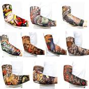 10PC Temporary Body Art Tattoo Sleeves