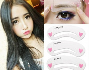 AOBILE(TM) Eyebrow Stencils DIY Template Makeup Tools Beauty Brow 3 styles reusable eyebrow Drawing Guide Template Accessories