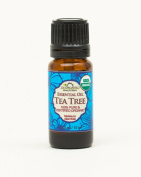 US Organic 100% Pure Tea Tree Essential Oil - USDA Certified Organic - 10 ml - w/ Improved caps and droppers