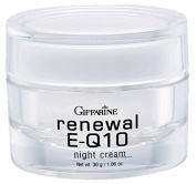 Giffarine Renewal E-Q10 Night Cream 30ml, Anti-wrinkle for Dry Skin, Gentle and Fragrance Free