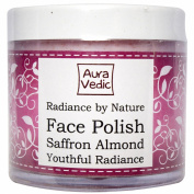 Auravedic Radiance By Nature Face Polish with Saffron, Almond Rose Extracts