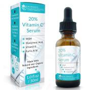 Dr. Straight's 20% Vitamin C Serum + Hyaluronic Acid + MSM + Vitamin E - Pharmacist Formulated