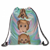 Women's Men's Drawstring Bag Unisex Shoulder Backpack Boy's Girl's Full Print Bag School Handbag String Travel Gym Rucksack
