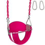 Highback 1/2 Bucket Swing Seat with 2.6m Coated Chain and SSS Logo Sticker
