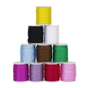 Tinksky 10 Colours 1mm Nylon Hand Knitting Cord String Beading Thread for DIY Jewellery Making