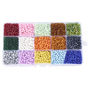 Pandahall 1 Box 15 Colour 4mm Glass Seed Beads
