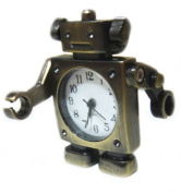 Mr Robot Pocket Watch Charm Necklace Pendant - Movable Arms - Cute Pocketwatch Chain Charms