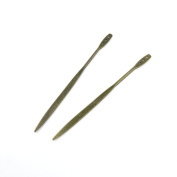 30pcs Jewellery Making Charms Jewellery Charme Antique Bronze Brass Tone Findings Lots Bulk Supply Supplies Repair Vintage Retro CK031 Hairpin Head Pins
