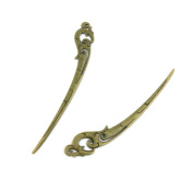 40pcs Jewellery Making Charms Jewellery Charme Antique Bronze Tone Fashion Finding for Necklace Bracelet Pendant Crafting Earrings RT012 Phoenix Bookmark Hairpin