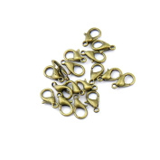 1510pcs Jewellery Making Charms Jewellery Charme Antique Bronze Tone Fashion Finding for Necklace Bracelet Pendant Crafting Earrings PE035 Lobster Clasps